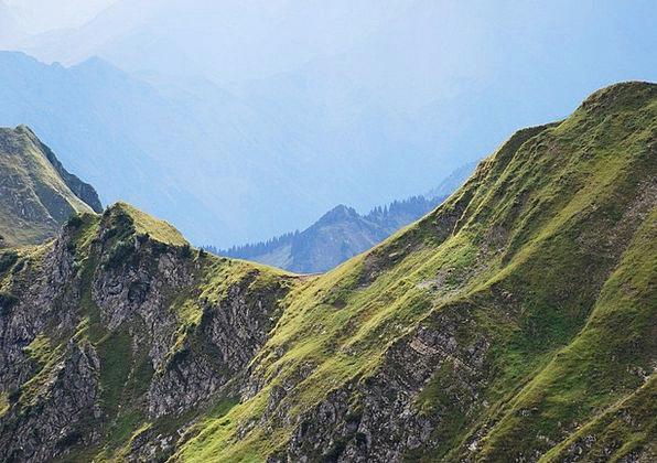 Mountains Crags Landscapes Mountainous Nature Fog