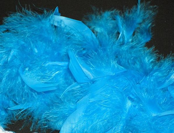 Feather Boa Blue Azure Boa Perlon Carnival Panel F