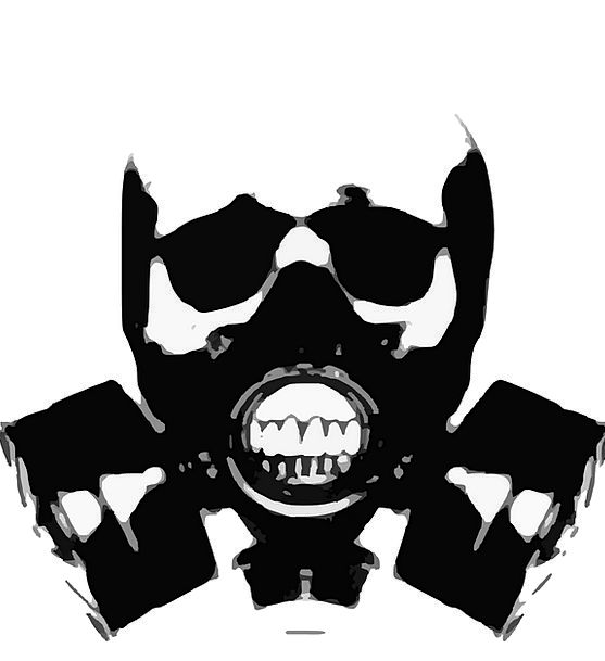 Gas Mask Outline Skull Mind Silhouette Gas Crossbo