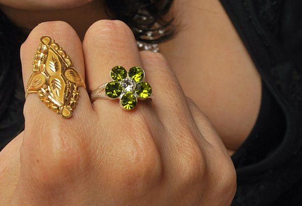 Ring Circle Fashion Beauty Gold Gilded Jewellery C