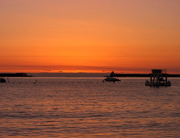 Port Harbor Vacation Dawn Travel Sunset Sundown Su