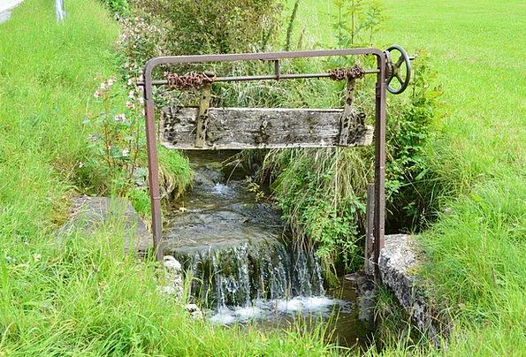Water Aquatic Bach Mühlbach Weir Dam Lock Old Padl
