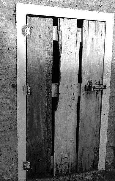 Door Entrance Timber Closed Shut Wood Lock Padlock
