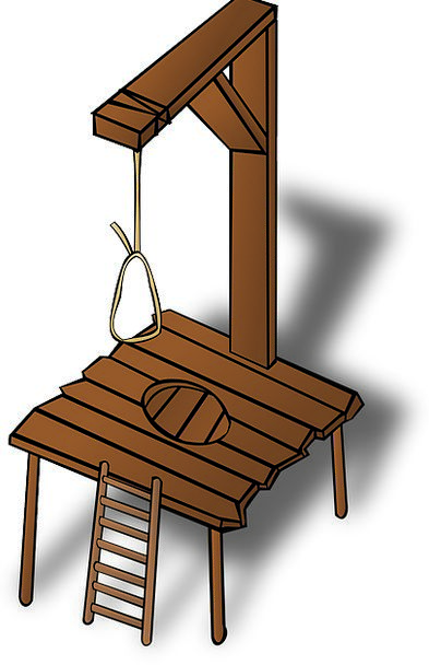 Gallows Scaffolds Droopy Wooden Timber Hanging Con