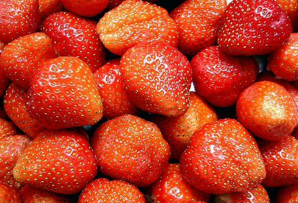 Strawberries Drink Ovary Food Sweet Sugary Fruit D