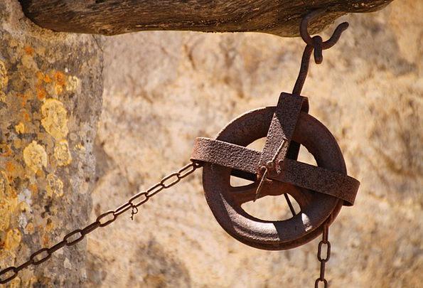 Thread Yarn Wheel Helm Chain Hoist Rusty Role Part