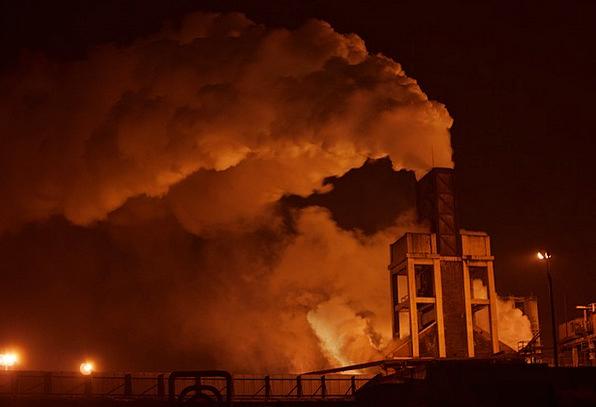 Factory Sweatshop Craft Industry Smoke Burn Indust