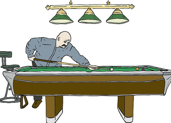 Pool Pond Snooker Thwart Billiard Sport Player Act