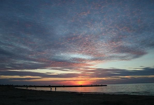 Sky Blue Vacation Marine Travel Sunset Sundown Oce