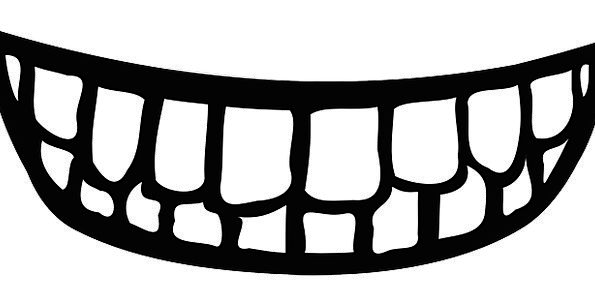 Teeth Fangs Entrance Smile Beam Mouth Expression B