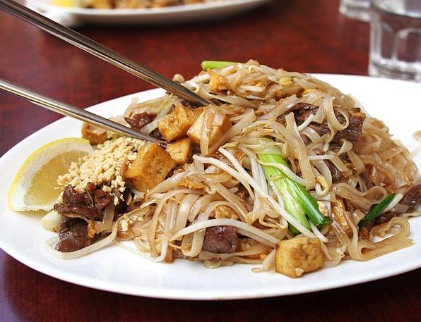 Thai Food Drink Food Fried Noodles Noodle Meal Mea