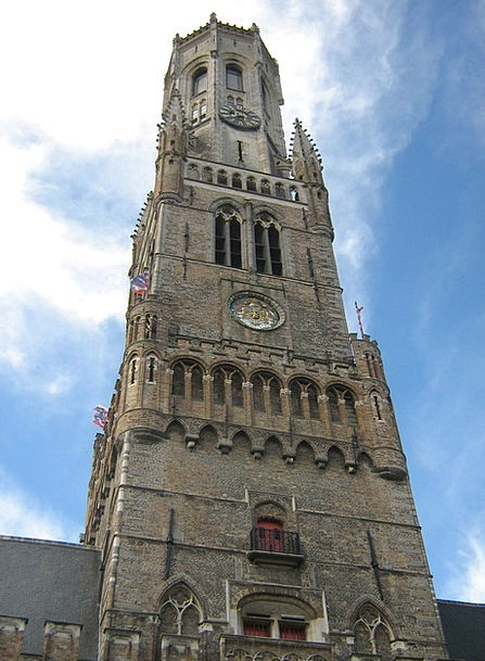 Belfry Of Bruges Ecclesiastical Cathedral Church B