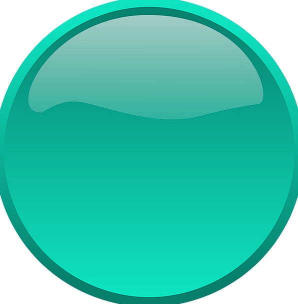 Button Key Ring Shape Form Circle Push Thrust Gree
