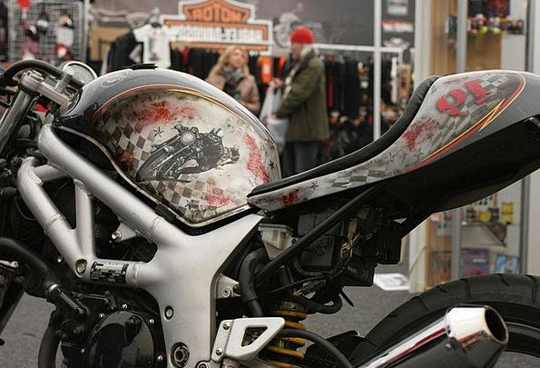 Motorcycle Motorbike Cistern Airbrush Atomizer Tan