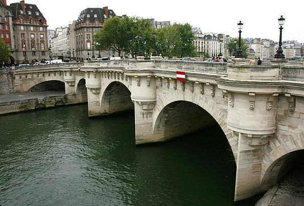 Pont Neuf Paris Sanchez Bridge Bond Seine River