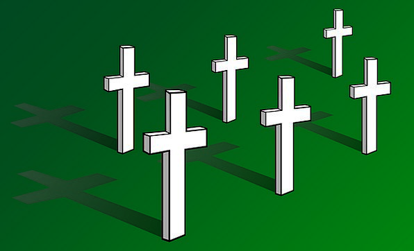 Crosses Symbols Graveyard Cemetery Christian Buria