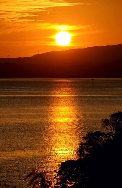 Sunset Sundown Vacation Marine Travel Kumamoto Sea