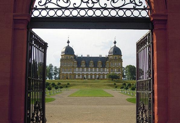Schloss Seehof Blacksmithing Gateway Arch Views Me
