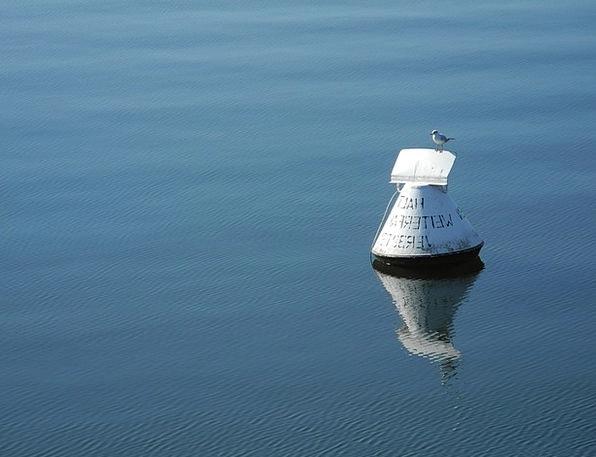 Boje Aquatic Blue Azure Water Alone Unaccompanied