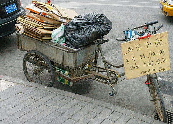 Tricycle Traffic Motorbike Transportation Trash Ga