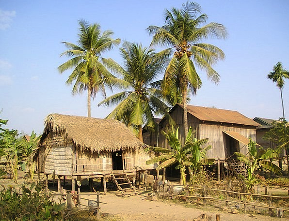 Cottages Huts Land Terrestrial Cambodia Live Livin