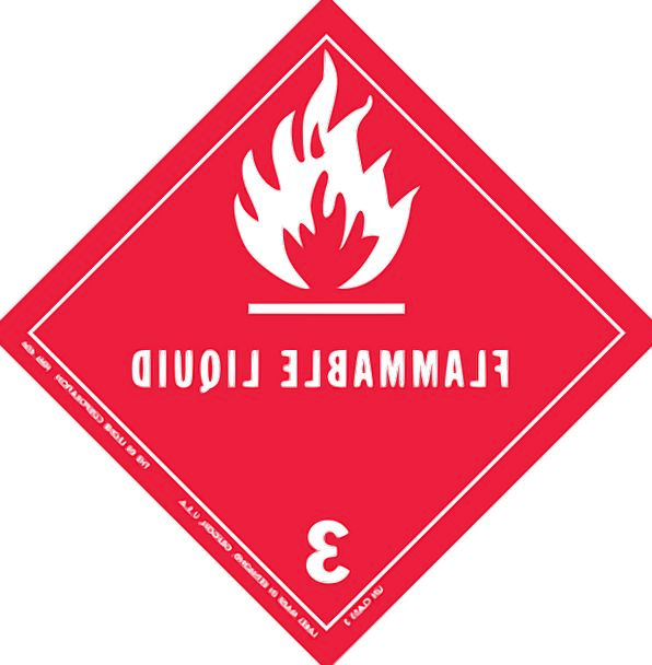 Warning Cautionary Flammable Combustible Hazard Fr