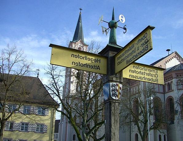White Horn Signposts Signs Parish Church Wood Timb