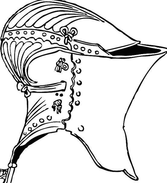 Helmet Hat Cavalier Armor Mail Knight Gear Metal M