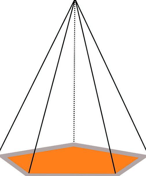 Pyramid Form Dimensional Shape Design Project Symb