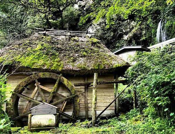 Waterwheel Japan Takachiho Hut Shed