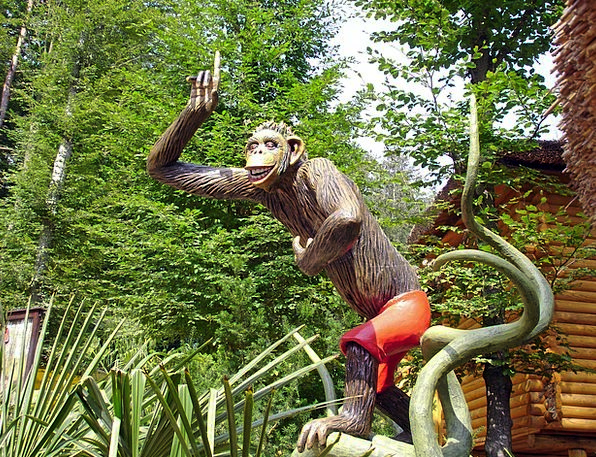 Monkey Ape Funfair Safari Trek Theme Park Replica