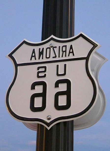 Route 66 Traffic Street Transportation Shield Prot