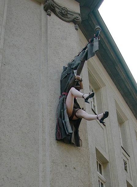 Sculpture Statue Legs Limbs High Heeled Shoes Ston