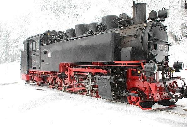 Steam Locomotive Old Ancient Railway Train Pullman