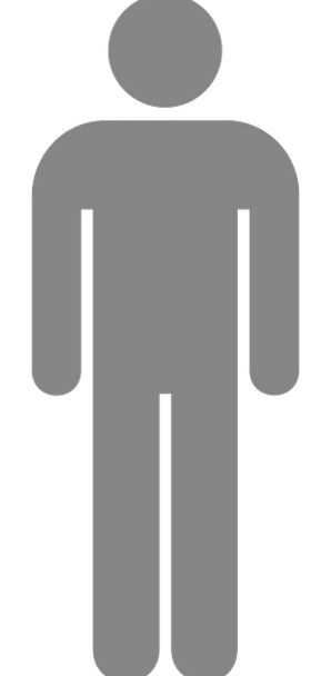 Man Gentleman Sign Toilette Toilet Pictogram Gray