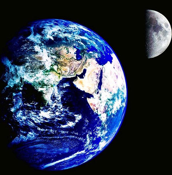 Space Interplanetary Blue Luna Sky Universe Cosmos