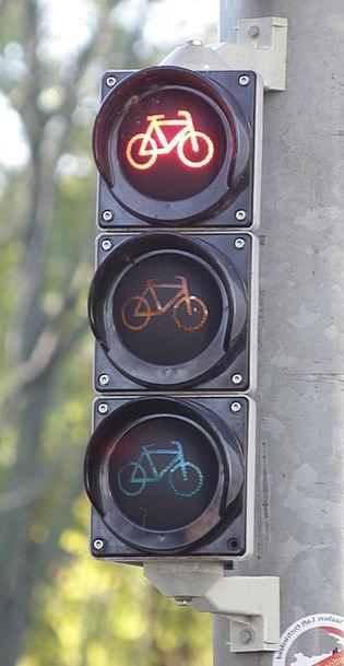 Bike Lights Traffic Transportation Red Bloodshot T