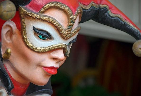 Mardi Gras festival Clown Carnival Figure Joker