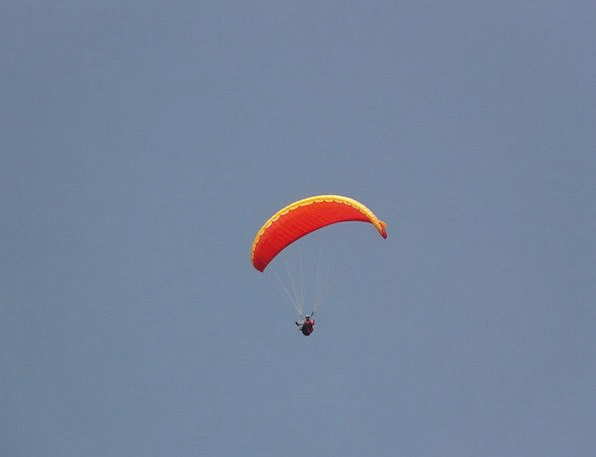 Paraglider Sky Blue Paragliding Fly Hover Air Airy