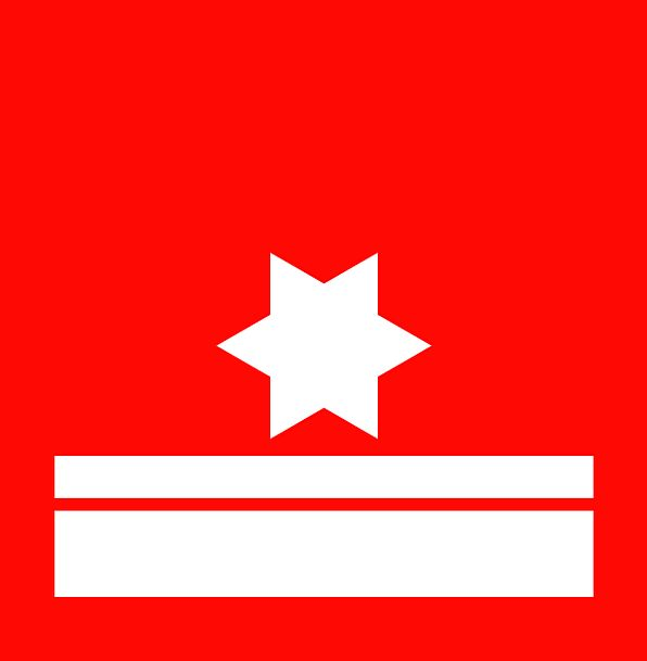 Star Interstellar Standard Red Bloodshot Flag Whit