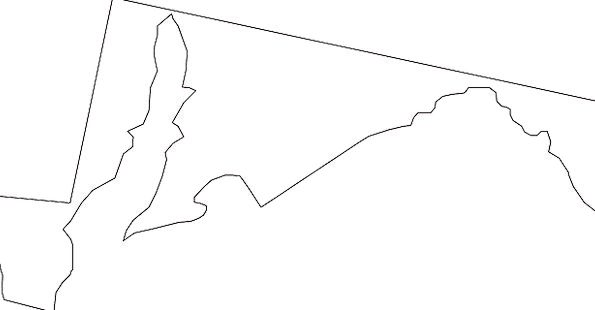 Maryland National Map Chart State Geography Topogr