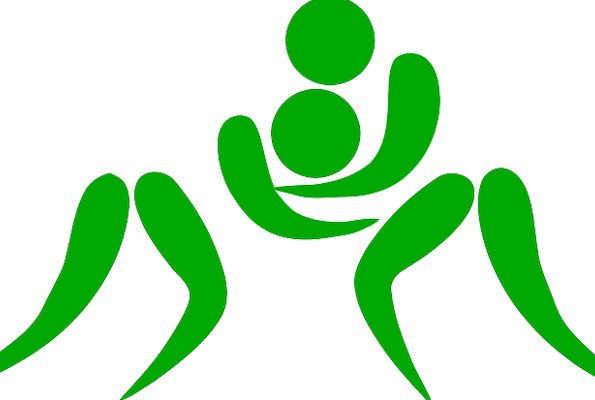 Wrestling Struggling Sign Sports Sporting Pictogra