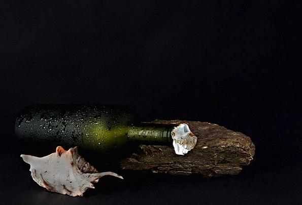 Bottle Flask Textures Backgrounds Still Life Seash