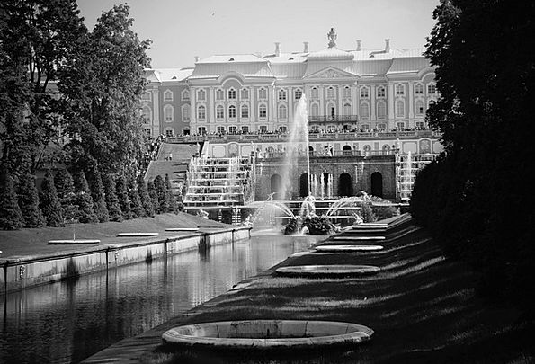 Castle Fortress Monuments Places Fountain Cascade