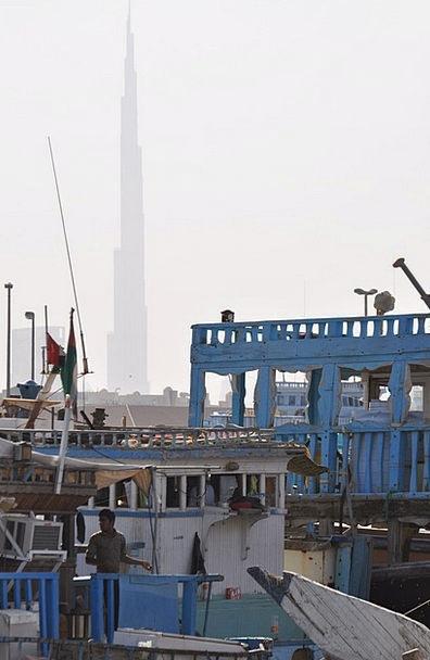Skyscraper Tower Harbor Dubai Pier Boat Harbour Em