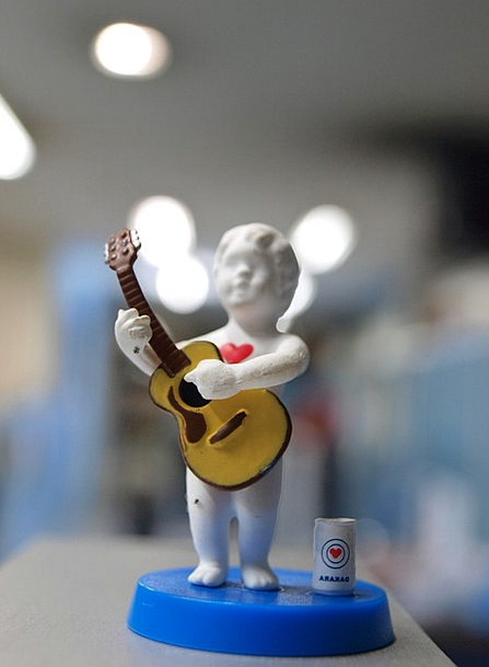 Toy Doll Small Musician Performer Miniature Guitar