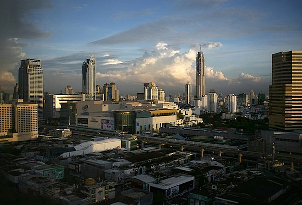 Bangkok Buildings Architecture Sky Blue Thailand C