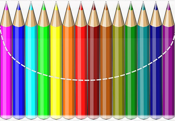 Color Pencils Crayons Pastels Colourful Drawing Pa