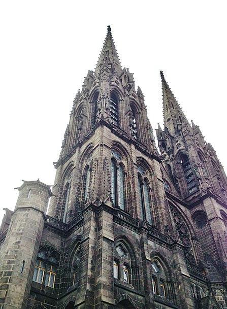 Clermont-Ferrand Buildings Church Architecture Bla