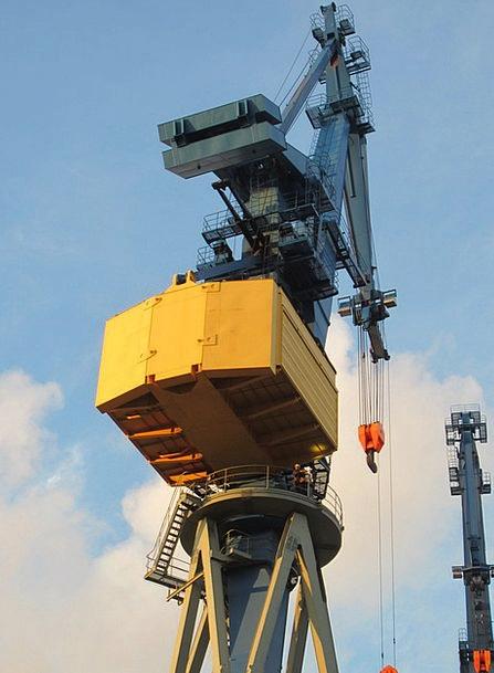 Hamburg Harbor Germany Port Harbour Cranes